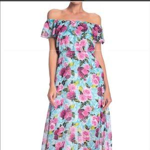 Host Pick BJ off the shoulder-floral  maxi dress